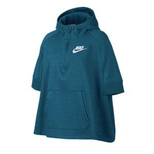Nike Girls' Top Club Pullover Poncho Top NWOT